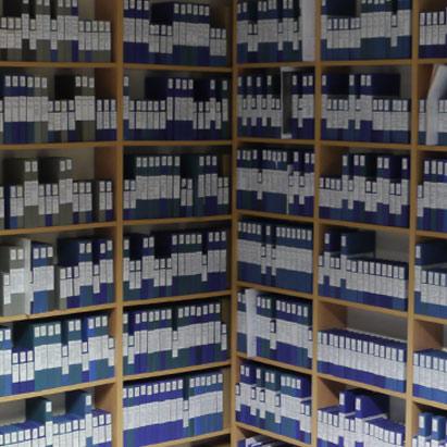 Karl Höffkes Archiv - Abbildung des Archivs